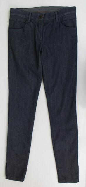 $1125 New Brunello Cucinelli Womens Pants Blue Denim Jeans Size 8 44 L Large