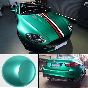 Lake Green Car Pearl Metal Satin Matte Metallic Chrome Vinyl Wrap Sticker CF