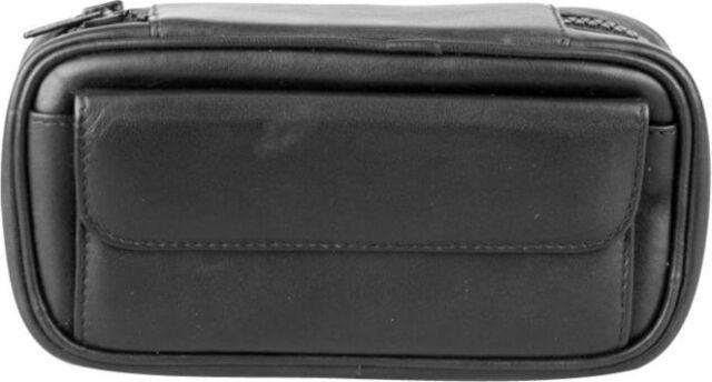 Pfeifentasche Schafnappa schwarz Vortasche + Tabakbeutel für 2 Pfeifen NEU OVP