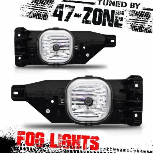 For 05-07 F250 F350 F450 F550 Excursion Clear Lens Chrome Housing Fog Light Pair