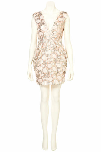 34 Bodycon Euro Sequin Dress 2 Rare By Wrap 6 Topshop Uk Pink Embellished Us w6CHxFqP
