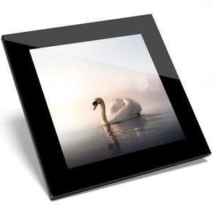 1 X Beau White Swan Lake Verre Coaster-cuisine étudiant Qualité Cadeau #8325-afficher Le Titre D'origine