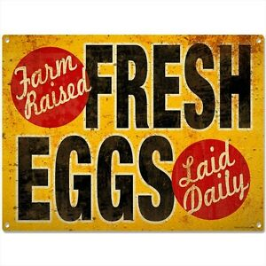 Image Is Loading Fresh Eggs Vintage Style Country Kitchen Sign Chicken