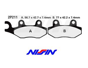 NISSIN-2P211GS-ALMOHADILLAS-PAR-DELANTEROS-YAMAHA-TT-250-R-1993