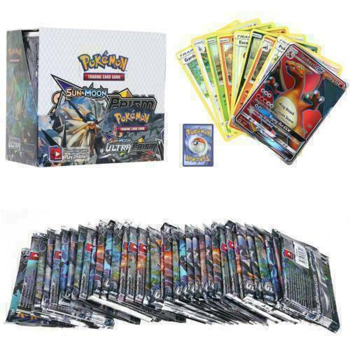 Neue324 Stück Pokemon GX TCG Booster Box SONNE&MOND Kunst-Sammelkarten-Geschenk-