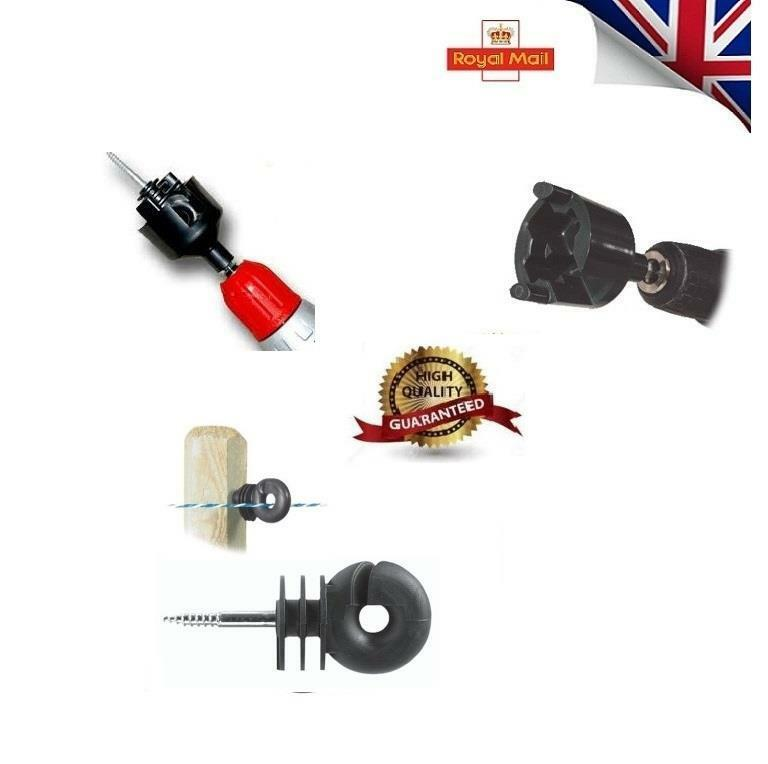 STRONG Ring Insulator x 2000 Screw in Compact  Electric Fencing & FREE SPINNER 01  best prices