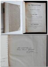 Giuseppe Verdi IL TROVATORE Bodro partitura completa CANTO E PIANOFORTE