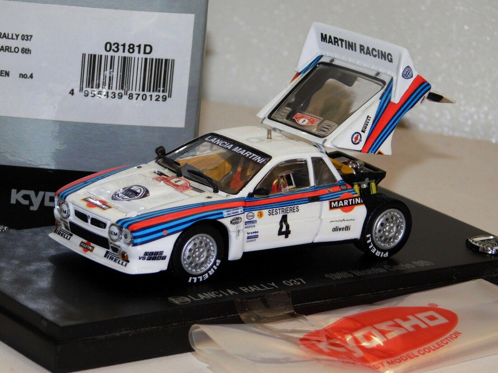 LANCIA 037 Martini Toivonen Montecarlo 1985 Kyosho 03181D 1 43