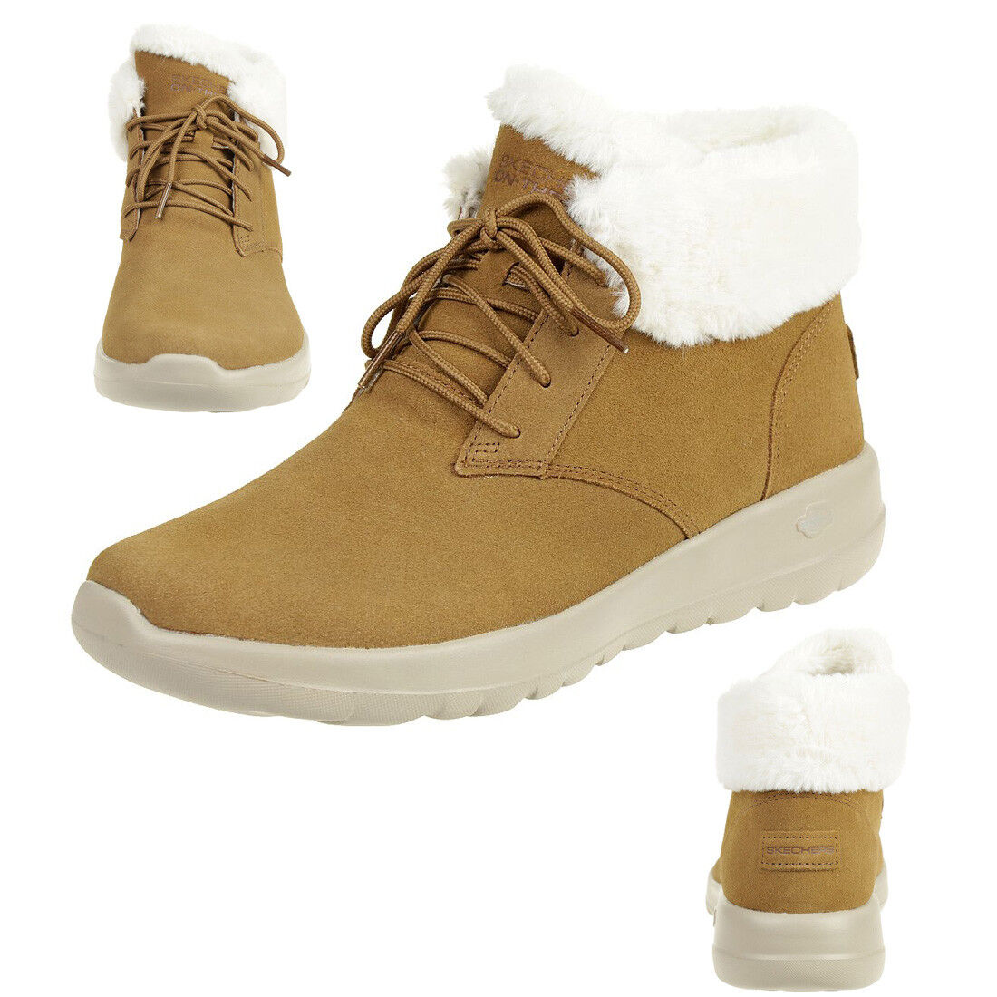 Skechers on the go Joy Lush Boots Women's Winter shoes Padded Csnt
