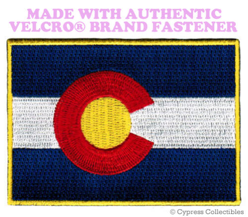 COLORADO STATE FLAG PATCH EMBROIDERED SYMBOL APPLIQUE w// VELCRO® Brand Fastener