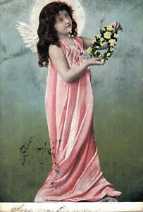 Angel-Vintage-Postcard-With-Flower-necklace-03-45