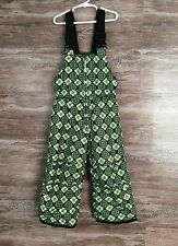 Orage Girls Youth Snow Ski Bib Pants Sz 4 One Piece Pattern Insulated Waterproof