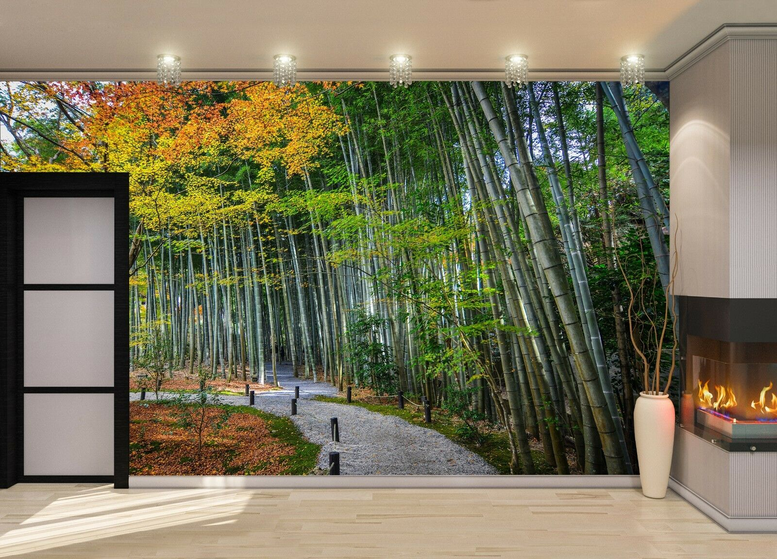Autumn scenery-Japan  Photo Wallpaper Wall Mural DECOR Paper Poster Free Paste