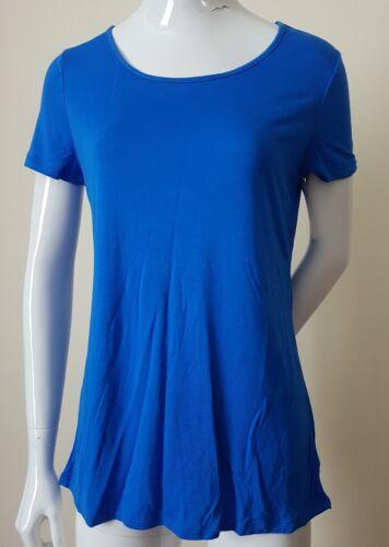 Designer Women's Ralph £35 S Blue Lauren Crossover Back Rrp Tee Top Draped qppwEg