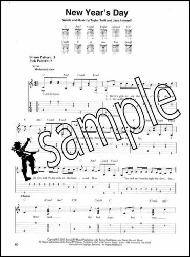 Taylor Swift Reputation Easy Guitar TAB Music Book End Game Delicate Dress