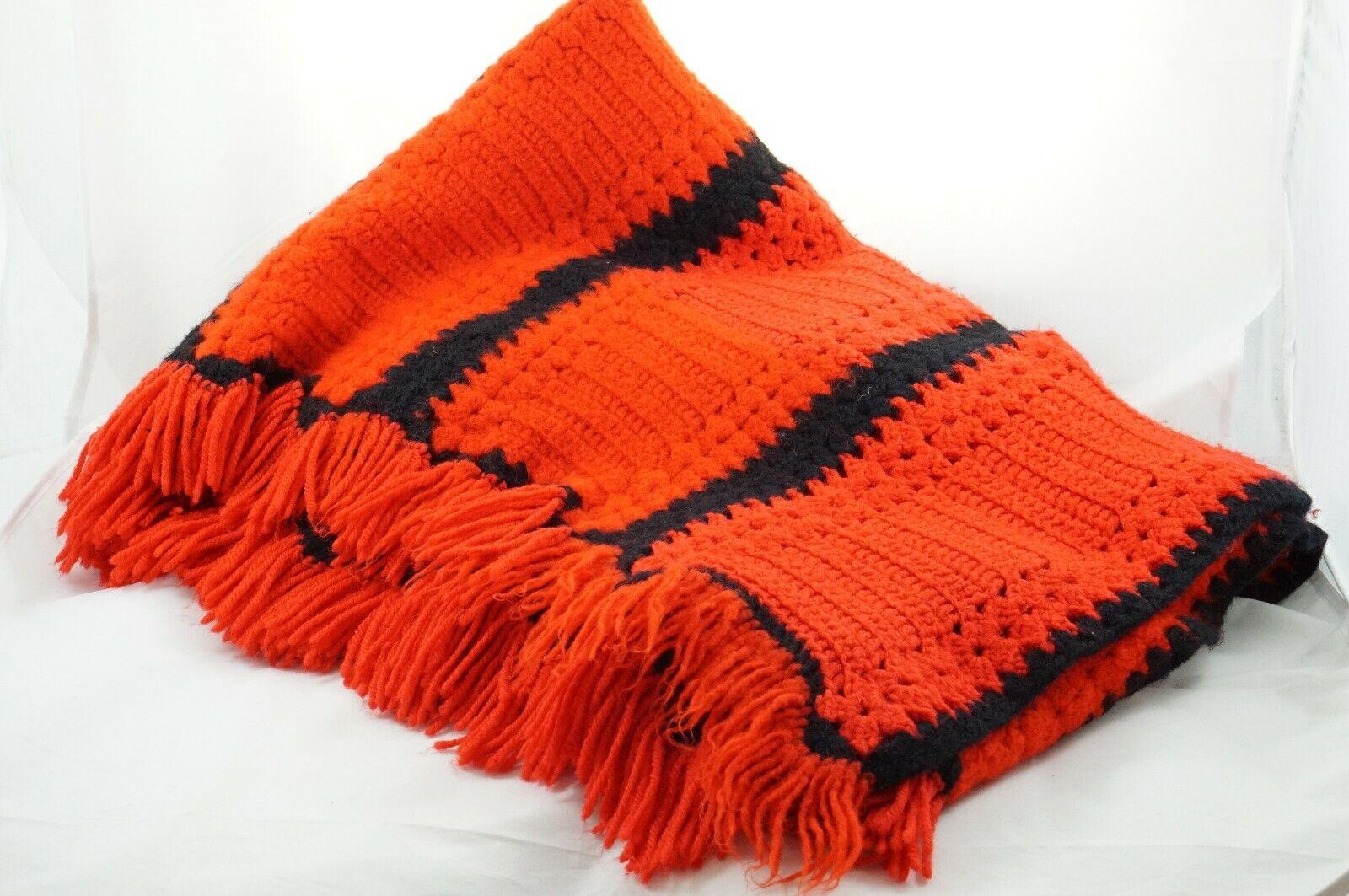 Handmade Crochet Afghan Black For Sale Ebay