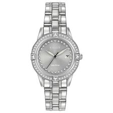 Citizen Eco-Drive Women's FE1150-58H Crystal Accents Silver-Tone 29mm Watch