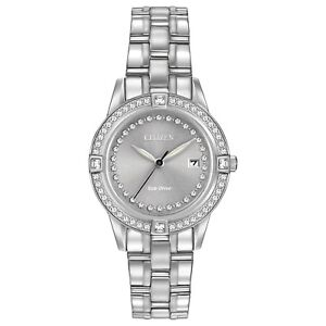 Citizen-Eco-Drive-Women-039-s-FE1150-58H-Crystal-Accents-Silver-Tone-29mm-Watch
