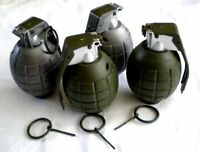 Set Of 4 Play Toy Grenades - Pretend Realistic Battery Operated Timer Explosion