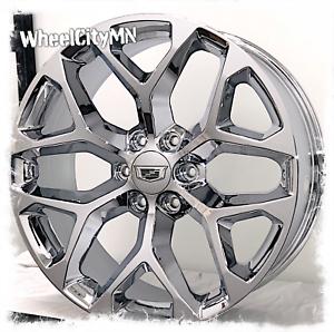 Image Is Loading 24 Inch Chrome Snowflake 2017 Cadillac Escalade Esv