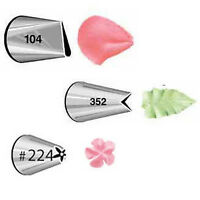 Wilton Decorating Tip Set Spritztülle 352 Leaf 104 Petal 224 Flower