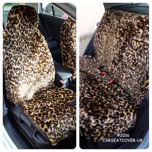 Image Is Loading LEOPARD PRINT LUXURY FAUX FUR FURRY CAR SEAT