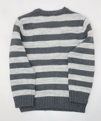 Details about  /Gymboree Kids Striped Knit Pull Over Gray And White NWT XS-S