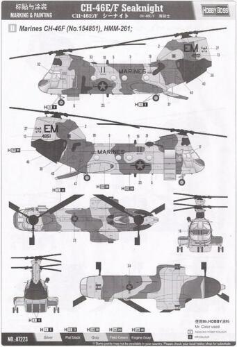 Hobby Boss *HobbyBoss* 1//72 American CH-46F Sea Knight #87223 *Sealed*