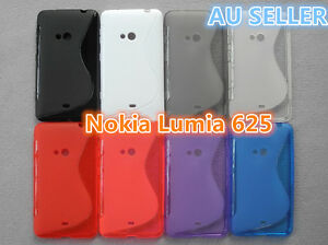 save off d1889 bce3e Details about Nokia Lumia 625 S Curve Slim Soft Silicone Matte Rubber Gel  Back Cover Case