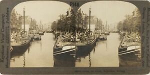 PAYS-BAS-Hollande-Rotterdam-Photo-Stereo-Vintage-Argentique-PL62L12