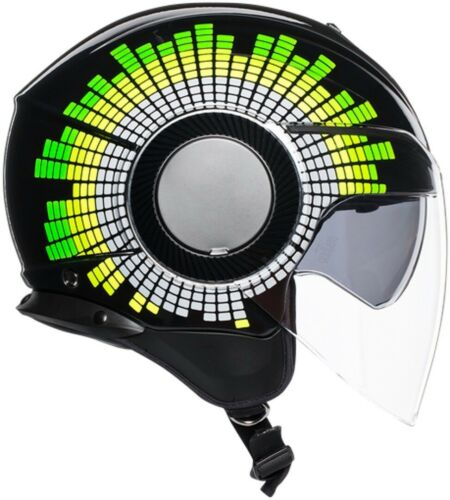 Casco jet scooter moto Agv Orbyt Ginza nero giallo verde taglia L helmet