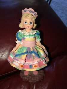 "Madame Alexander Wendy Face ""HAPPY BIRTHDAY"" Resin Figurine Doll Vintage"