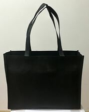 10 BLACK SHOPPING BAGS ECO FRIENDLY REUSABLE RECYCLABLE GIFT PROMO BAG (LARGE)