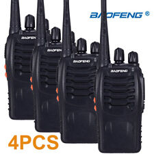 4 Piece Portable Walkie Talkie 16ch UHF Ham Radio HF Transceiver 2
