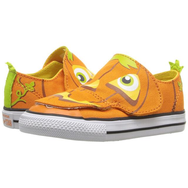 b597301debe7d Converse Kids Chuck Taylor All Star Ox Creatures Vivid Orange Yellow White