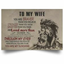 YOU ARE BRAVERWall Decor Poster TO MY WIFE no frame