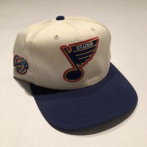 Vintage-St-Louis-Blues-American-Needle-Blockhead-NHL-Snapback-Hat