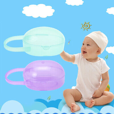 Baby Nipple Container Box Portable Plastic Pacifier  Mini Transparent Protector