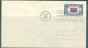 US-911 OVER RUN COUNTRIES NORWAY cancel.WASHINGTON DC.JUL.27-1943 ADDR
