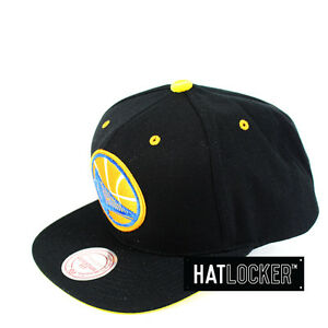 new style 3da30 0d82a Details about Mitchell   Ness - Golden State Warriors Solid Velour Logo  Snapback