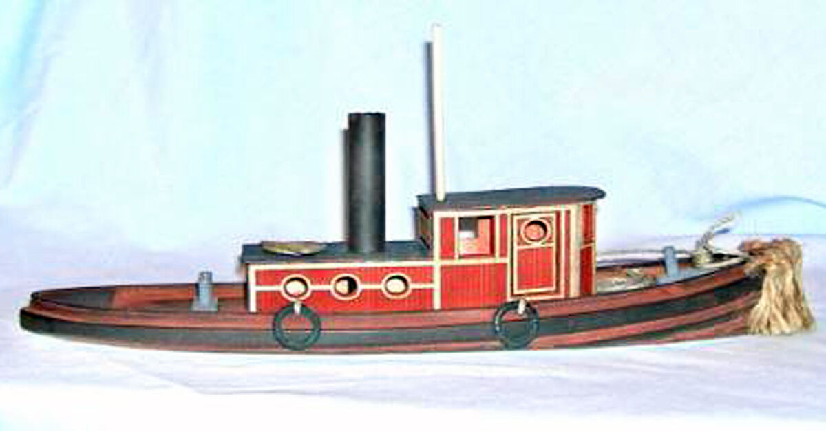 48' 1887 TUG BOAT HAWK O On3 On30 Waterline Hull Unpainted Wood Laser Kit  DF601