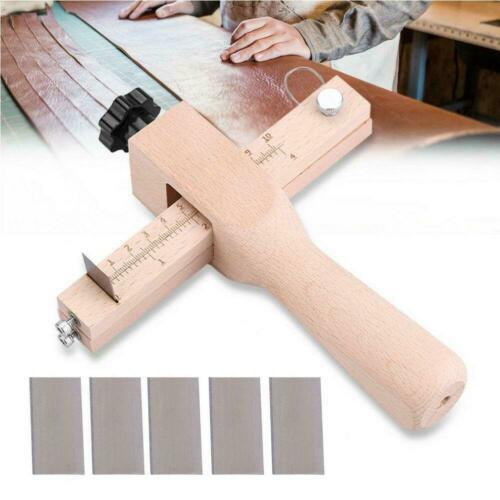 Wood Adjustable Strip and Strap Cutter Craft Tool Leather Hand Cutting Tools