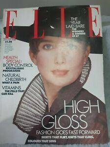 1988 janvier elle Original Vintage Magazine Pre owned en bon état.