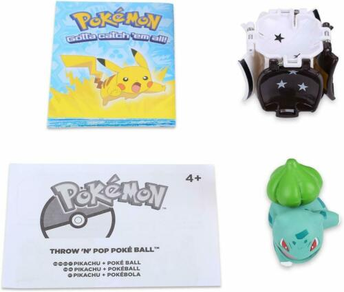 Pokemon Throw Catch Pop Poke-ball Bulbasaur Figure Game Gift Toy Kids Boys Girls