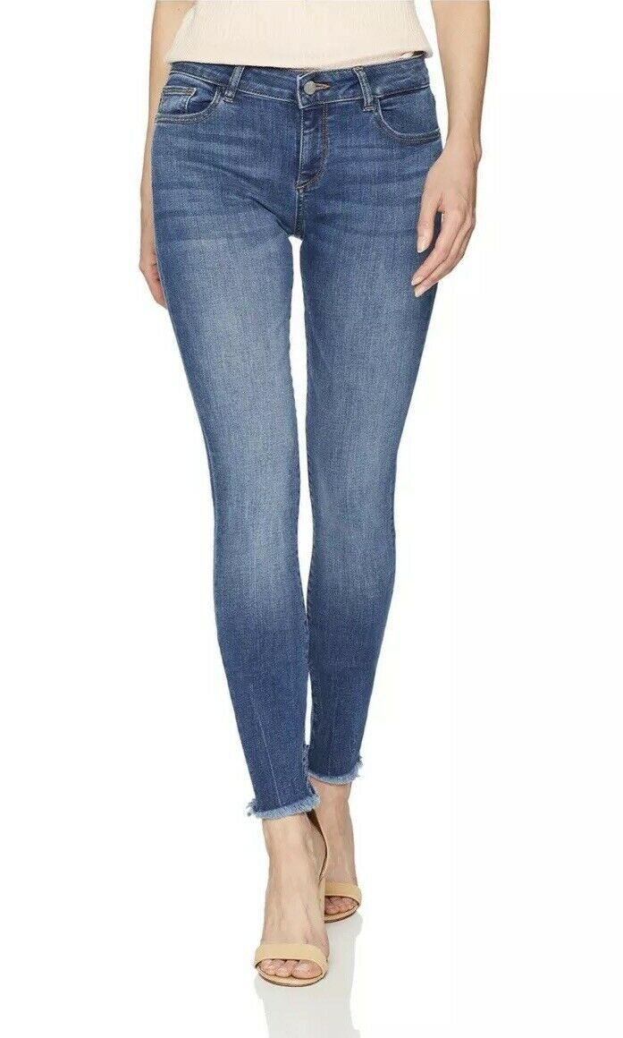 Neuf Avec étiquettes Femme DL1961 taille 32 Jean Skinny Danny Top Model Bleu argentlake Long Tall