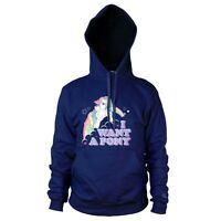 Official My Little Pony I Want A Pony Hoodie - Hooded Sweater Ladies Navy Blue