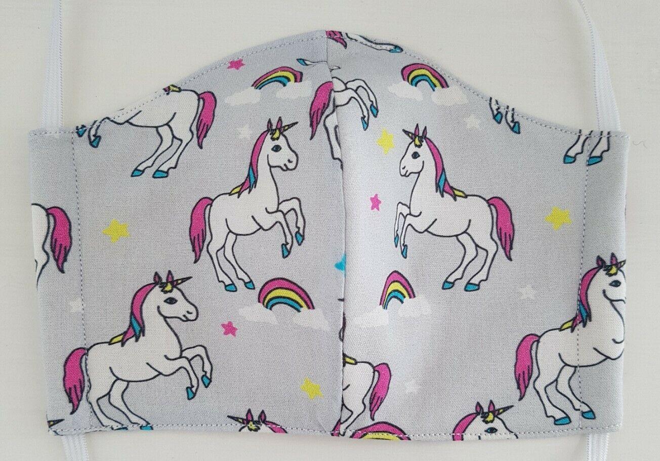 Unicorn rainbow Mask rainbow mens Cotton Washable reusable three layers