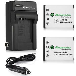 2x-NP-45-NP-45A-Battery-Charger-For-Fujifilm-FinePix-XP10-XP60-J10-J20-J100-T550