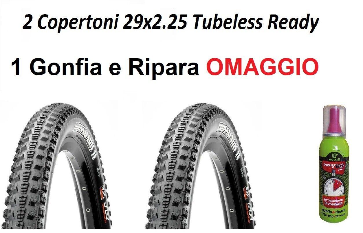 2 Tyres MTB 29 Tubeless Ready MAXXIS Crossmark II exo 29x2.25 Rubber Bike