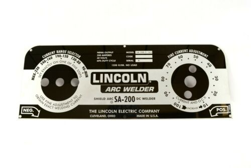 MIRRORED STAINLESS STEEL FACEPLATE Lincoln SA-200 Redface BW180 M10926